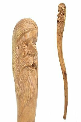 Man of the woods / GREEN MAN wooden walking stick / cane / Hardwood staff BOXED