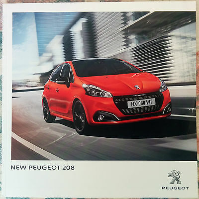 New Peugeot 208 Brochure 42 Pages Stunning - Mint Condition
