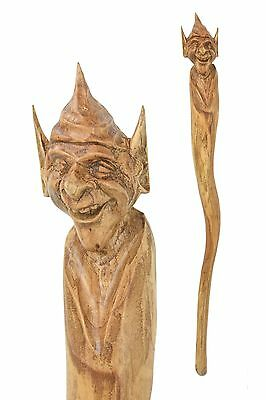 Pixie Pixy wooden walking stick / cane / staff - Hand carved from Hardwood