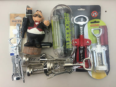 JOB LOT of 8 x NEW Wine Twin Lever Corkscrews / Wing corkscrews