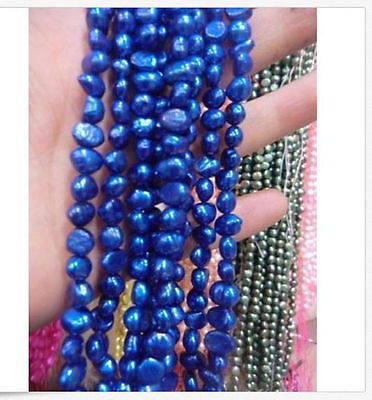 5-6mm Blue Freshwater Cultured Pearl Loose Beads