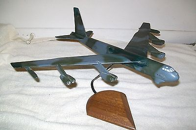 """B-52 Bomber Camouflage Airplane  Wood DESK TOP  Model  17 1/2"""" L x 19 1/2 """" W"""