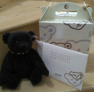 Steiff limited edition: Jack - The Rare Black Alpaca Bear with 22ct gold buttons