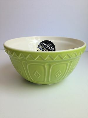 MASON CASH Ceramic Mixing Bowl, Green S30 Embossed, 21cm, Salad Bowl BRAND NEW!