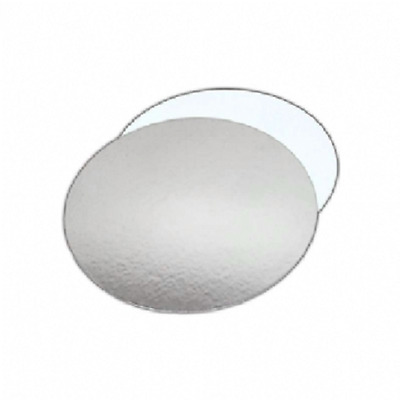 """4"""" Reversible Silver & White Round Cake Boards - Cards 1.5mm"""