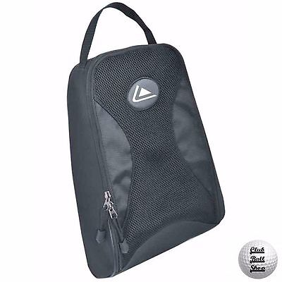 Longridge Eze Golf Black Shoe Bag Breathable Mesh Carry Handle Double Zips New