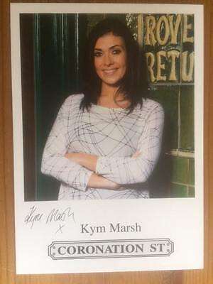 "Kym Marsh Coronation Street Pre-Printed Signature Cast Card 6"" X 4""."