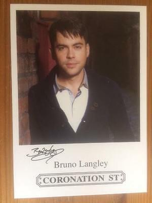 "Bruno Langley Coronation Street Pre-Printed Signature Cast Card 6"" X 4""."