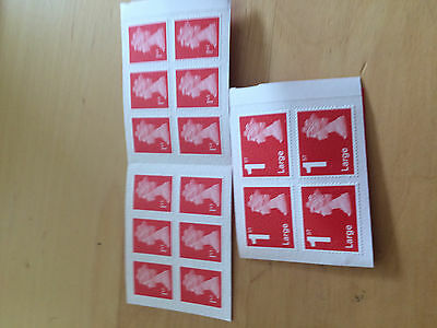 16 Unused/New First Class Stamps (12 normal, 4 Large)