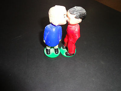 Vintage Bobble Head Magnetic Kissing Dolls made in British Hong Kong