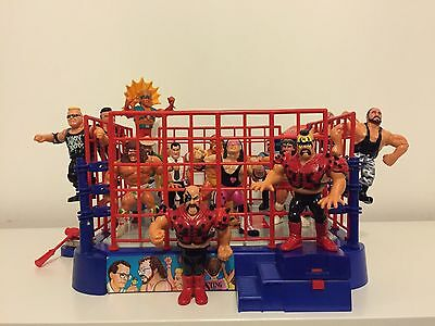 WWF Hasbro Vintage Action Figures with Ring Job Lot Collection
