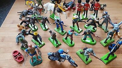britains  vintage  knights cowboys soldiers mixed lot