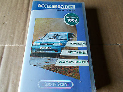 Acceleration rally video Sept 1996- unused/ motor sport/Sports Seen,