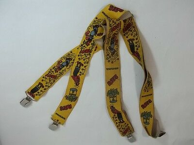 Vintage Popeye Olive Oil Suspenders Yellow