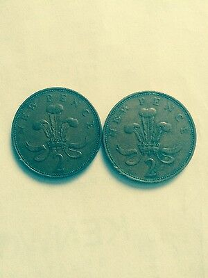 2 X RARE New Pence 2p Coins 1971. Collectors Items!