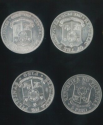 (HKPNC) #PMW PHILIPPINES 1964-75 large coin 1P TO 5P VF-AU