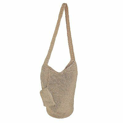 Dynamic Asia Women's Nylon Crochet Tote with Coin Purse, Beige  840892173730