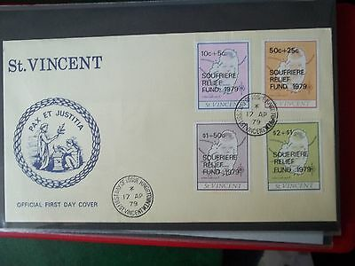 1979 First Day Cover Of Soufriere Relief Fund From St Vincent