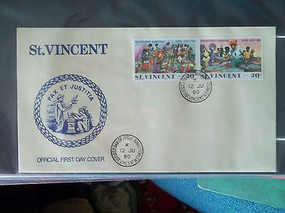 1980 First Day Cover Of Kingston Carnival From St Vincent