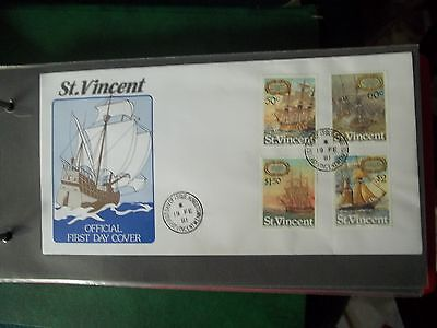 1981 First Day Cover Of Ships From St Vincent