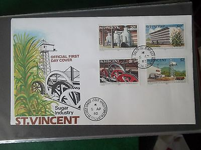 1982 First Day Cover Of Sugar Industry From St Vincent