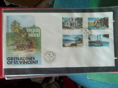 1981 First Day Cover Of Bequia Island From St Vincent