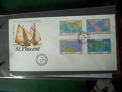 1980 First Day Cover Of On The Map From St Vincent