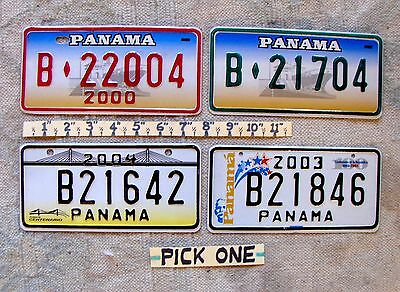 Free Shipping: PANAMA License Plate PICK ONE: motorcycle or bicycle Early 2000's