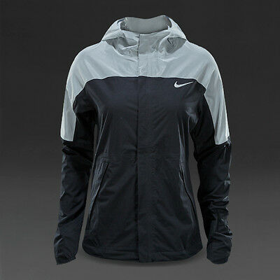 Nike Shield Runner Flash Running Jacket 3M Reflective Black Size L 688559 010