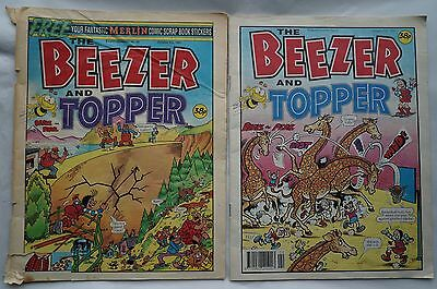The Beezer & Topper Comics 1991 & 1992 - Numbers 55 & 71 - 26 Years Old !