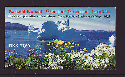 Greenland 1989 MNH - Booklet no 1 - Iceberg - with Queen Margrethe stamps