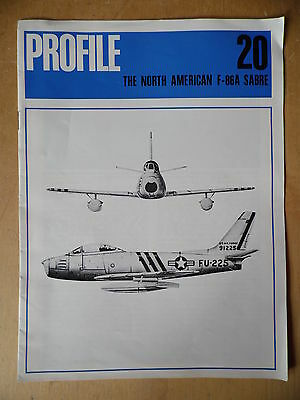 The North American F-86A Sabre Profile Publications Number 20 Aircraft Booklet