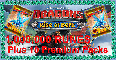 Dragons : Rise Of Berk Million Runes and 10 Card Packs cheat package Android iOS