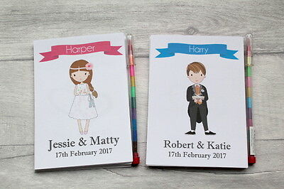 A6 Personalised Childrens Wedding Activity Pack Gift Favour Book