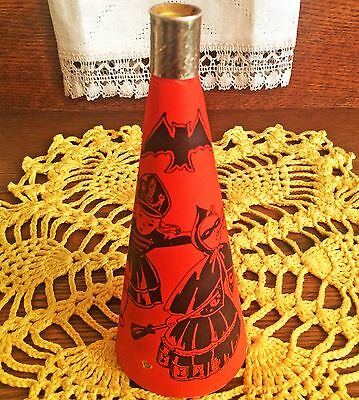 UNCOMMON Vintage Halloween Noisemaker Horn with Gold Foil, Bugle Toy, USA 1940s!