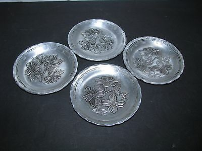 Hammered aluminuim Quaker state motor oil advertising Coasters Wendall August