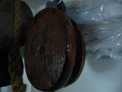 """Antique Marine boat Wood single pulley Block 6"""" Clovelly"""