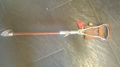 Vintage shooting stick with hyde park london badge