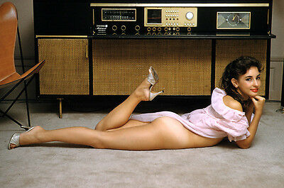 Elizabeth Ann Roberts Circa 1960s In front of Tube Stereo 8 x 10 Photograph