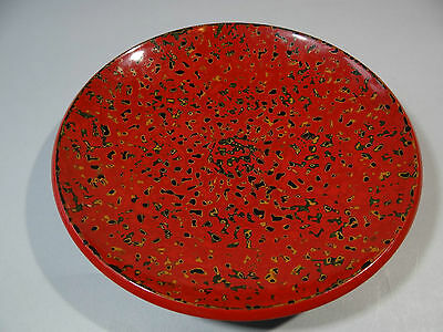 Beautiful! Vintage Japanese Tsugaru nuri Lacquer dish bowl