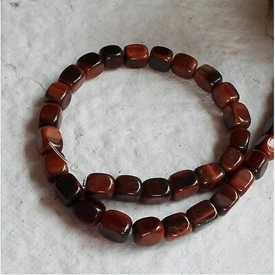 """16"""" STRAND OF RED TIGER EYE NUGGETS ~ 10x8mm"""