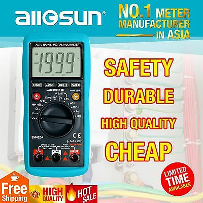 Digital Multimeter DC AC Electrical Tester Large LCD Display V A R Meter CA Ship