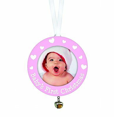 Tiny Ideas Babys First Christmas Ornament, Pink