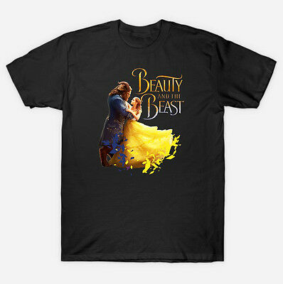 BEAUTY AND THE BEAST MEN & WOMEN'S 'T-SHIRT DISNEY 2017 MOVIE Graphic-Tshirt-A