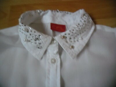 chemise chemisier fille blanc 10 ans col strass 3 suisses