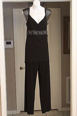 Free Shipping!  Thyme Maternity Size L/G - Black Evening One Piece Zippered Pant