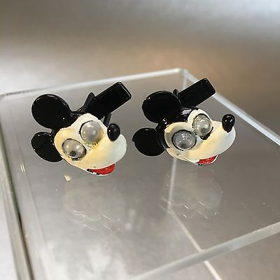 Antique Mickey Mouse Walt Disney Productions Cufflinks Vintage Authentic
