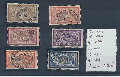 LOT Timbres France Type Merson N° 119 - 120 -144 -121 -123 -145