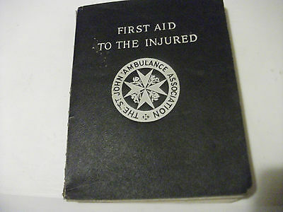 St John Ambulance Association 'First Aid to the Injured' book 1940 Paperback
