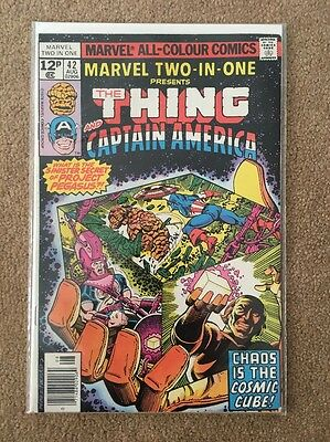 Marvel Two-in-One #42 The Thing Captain America Cosmic Cube 2-in-1